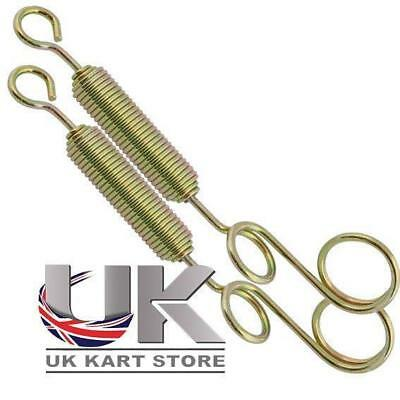 Pack of 2 x Special Exhaust Cradle Finger Loop Spring UK KART STORE