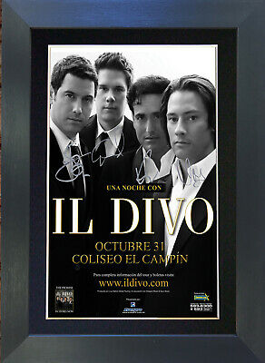 IL DIVO Signed Mounted Autograph Photo Prints A4 185