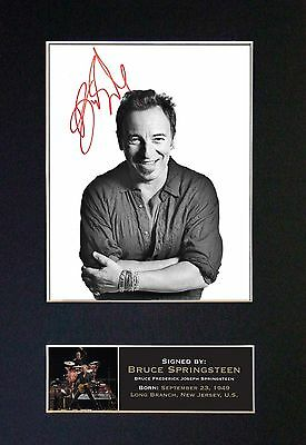 BRUCE SPRINGSTEEN Signed Mounted Autograph Photo Prints A4 161