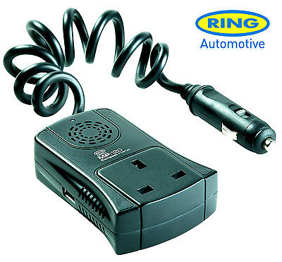 Ring RINV120 Compact 120w Power Inverter USB 12v Car To 240v *FAST DISPATCH*