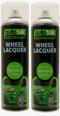2 X Wheel Lacquer Clear Paint Spray 500Ml Laquer Bodyshop Repair Free Delivery