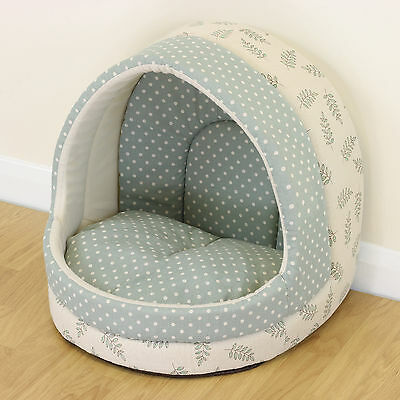 Vintage Igloo Pet Bed Cat/Kitten Dog/Puppy Polka Dot Cave/House/Snug Pastel Chic