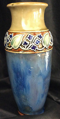 "Royal Doulton art nouveau stoneware vase by Lily Partington #8235 ~ 6.5"" tall"