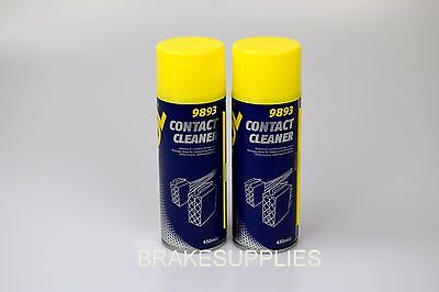 2 X Electrical Contact Cleaner Spray Aerosol 450Ml Can German Hi Spec Mannol