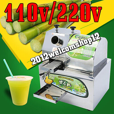 Desktop electric stainless steel sugar cane juice machine, sugar cane juicer