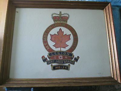 Royal Canadian Legion Painting  Signed and Dated by the Artist