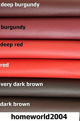 Faux Leather Upholstery Fabric Leatherette RED BURGUNDY SHADES