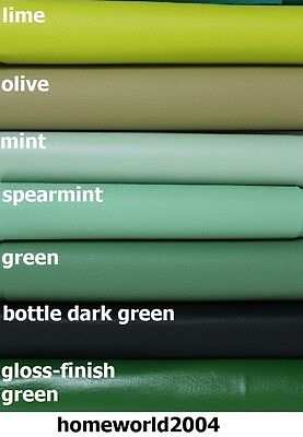 Faux Leather Upholstery Fabric Leatherette GREEN OLIVE SHADES