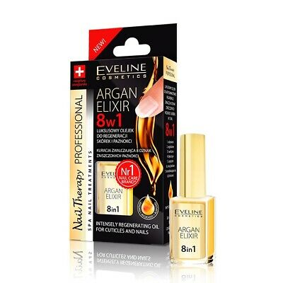 EVELINE ARGAN ELIXIR 8 in 1 Intensely Regenerating Oil for Cuticles and Nails