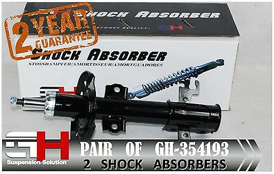 2 Brand New Front Gas Shock Absorbers For Saab 9-3 07.2003-  /// Gh 354193 ///