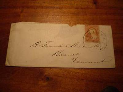 (X186) EARLY USA COVER WITH 3d IMPERF STAMP