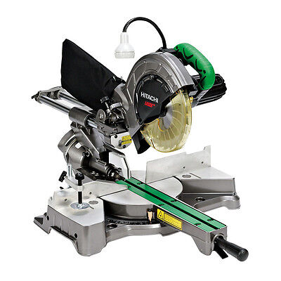 "8-1/2"" Sliding Compound Miter Saw PLUS Laser Marker Hitachi C8FSHE New"