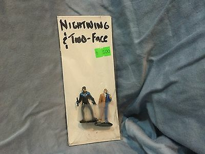 Vintage Lot of 2 DC Comics Nightwing Two Face 2 Loose Action Figure RARE!