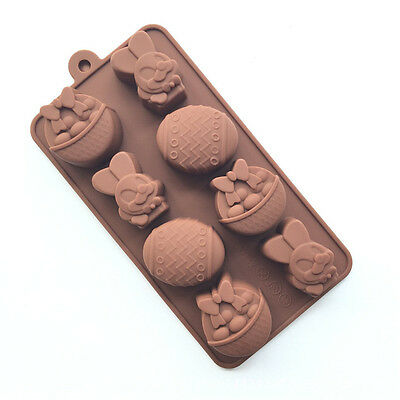 3D Silicone Easter Egg Fondant Mold Baking Chocolate Cake Decorating Soap Mould