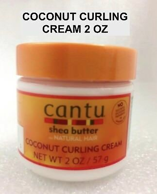 CANTU SHEA BUTTER FOR NATURAL HAIR COCONUT CURLING CREAM 2 oz TRAVEL SIZE