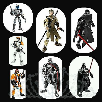 Lego Star Wars Buildable Figures Rey Darth Vader Kylo Ren 7 to Choose *FAST SHIP