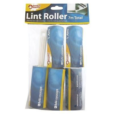5 ROLLS LINT 7m REMOVER ROLLER STICKY DUST FABRIC BRUSH PET HAIR CLOTHES