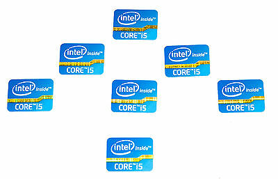Intel Inside Core i5 Sticker Blau Blue 7x Stück pcs Aufkleber Label logo