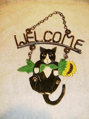 Cat Welcome Wall Hanging