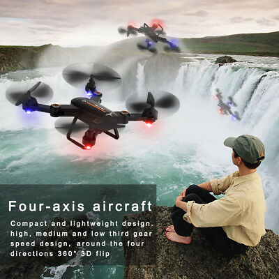 Wifi FPV Camera Mini Drone Foldable 4Axis Gyro Headless Helicopter RC Quadcopter