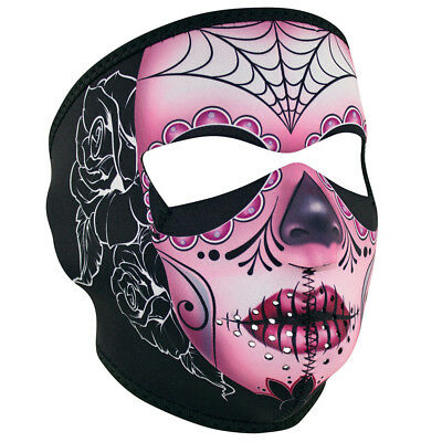 Sugar Skull Neoprene Ski Face Mask Snowboard Motorcycle Scary Day of the Dead +