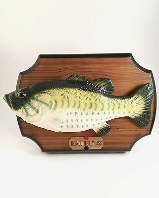 Vintage big mouth billy bass singing fish 2 songs wall or for Big mouth fish