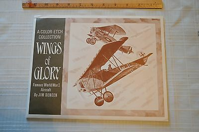 Jim Deneen Wings of Glory WWI Fighter Planes Color Foil Etch 4 Print Set