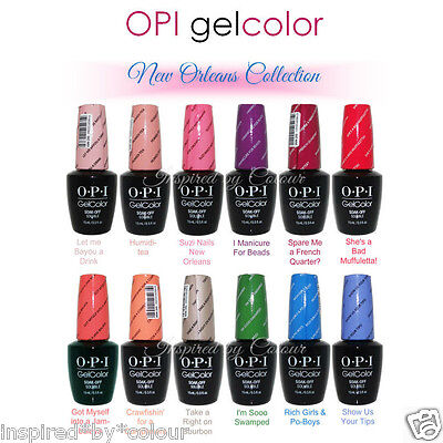 OPI GelColor Soak Off Gel Polish ~ COLOURS  from the NEW ORLEANS COLLECTION