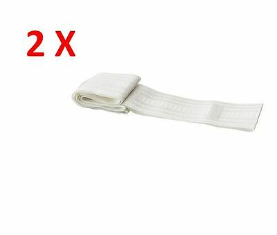 2 X IKEA KRONILL 100% Polyester White Heading Tape For Curtains DIY-NEW