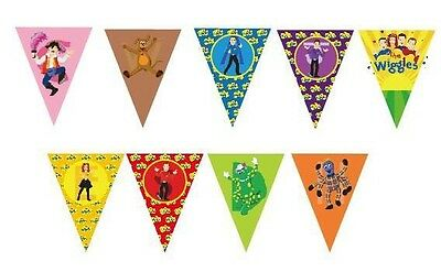 The Wiggles Banner Bunting Flag Room Decoration Party Supplies. Lolly Loot Bag