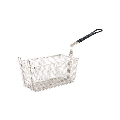 Deep Fry Fryer Basket 325x175x150mm Chrome Plated PVC Handle - Heavy Duty