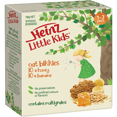 Heinz Little Kids Honey Oat Bikkies 10 Pack