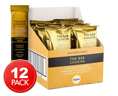 12 x The Bar Counter Salted Caramel & Crunchy Chocolate Protein Bars 40g