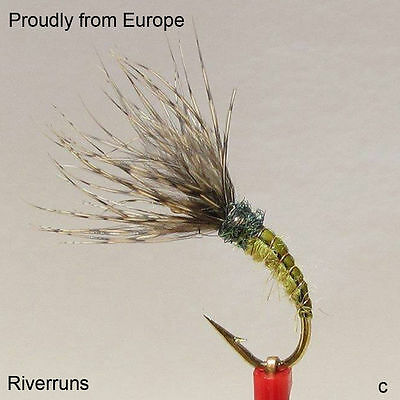 Riverruns 1 Piece Sales Tenkara Flies Realistic UV Trout Fly Flies (9 Selected)