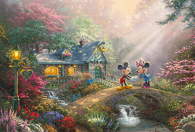 Disney Mickey and Minnie Mouse Sweetheart Kinkade HD Canvas Print Art Home 16x24