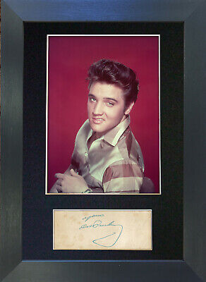 ELVIS PRESLEY Signed Mounted Autograph Photo Prints A4 70