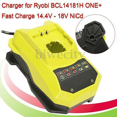 220V Charger For Ryobi BCL14181H ONE+Fast Charge 14.4V-18V NiCd Li-Ion Battery