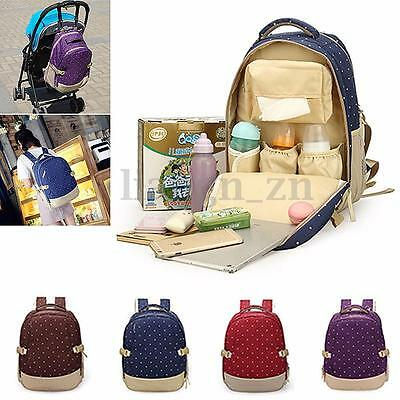 Mother Mummy Diaper Nappy Backpack Baby Newborn Pad Light Changing Shoulder Bag