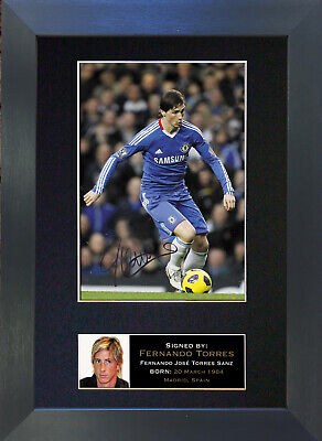 FERNANDO TORRES Signed Mounted Reproduction Autograph Photo Prints A4 37