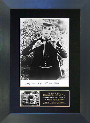 BUSTER KEATON Signed Mounted Autograph Photo Prints A4 20