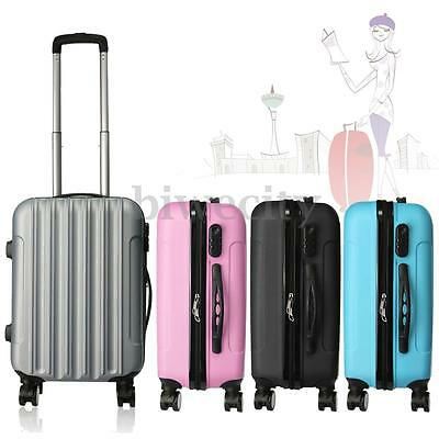 "20"" Valise Trolley Rigide Bagage Roulettes 360° Sac de Voyage Cabine Chariot"