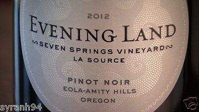 Evening Land Pinot Noir Eola-Amity Hills Seven Springs Vineyard La Source 2012