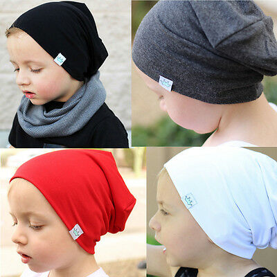 Winter Fall Boys Girls Child Baby Toddler Cotton Soft Warm Bobble Hat Beanie Cap