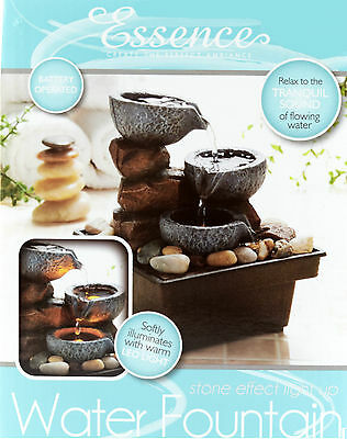 New Stone Effect Water Fountain Indoor Slate Feng Shui Table Home  Decoration