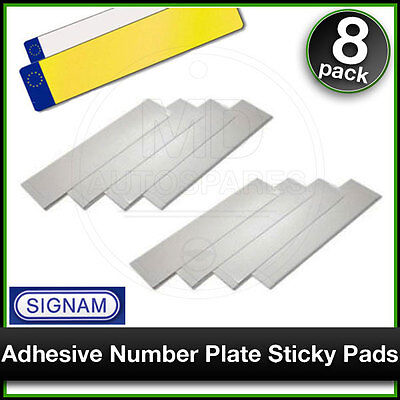 SIPLAS Car Number Plate STICKY PADS Heavy Duty Adhesive x 8 Pack