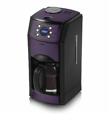 Delta ADCM4117TA Coffee Maker With Grinder in Purple - Brand New UK Stock !!!