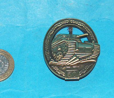 German Ww2 Assault Tank Commanders Badge Replacement Badge With Rear Arm Fixing.