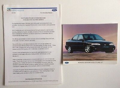 Ford Mondeo Rs Styling Press Release, Very Collectable Pr0237