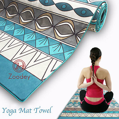 New Microfiber Extra Absorbent Exercise Nature Rubber Suede Yoga Mat Towel