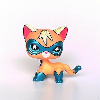 Littlest Pet Shop super hero Short Hair cat LPS toys San Diego Comic Con Kitty